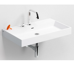 WASH ME Håndvask 70 x 42 cm Aluite - Mat hvid