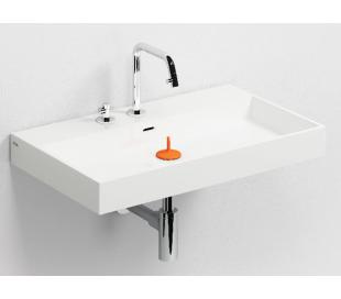 WASH ME Håndvask 70 x 42 cm Mineral - Hvid højglans