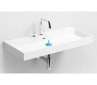 WASH ME Håndvask 90 x 42 cm Aluite - Mat hvid
