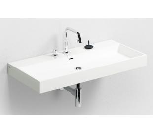 WASH ME Håndvask 90 x 42 cm Mineral - Hvid højglans