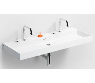 WASH ME Håndvask 110 x 42 cm Aluite - Mat hvid