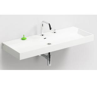 WASH ME Håndvask 110 x 42 cm Mineral - Hvid højglans