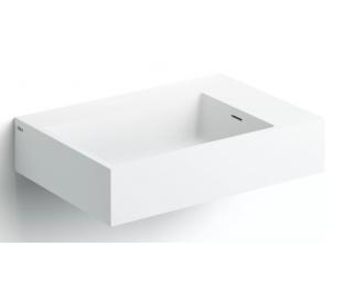 FLUSH Håndvask 60 x 42 cm Aluite - Mat hvid