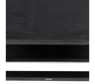 Colombe Sofabord i ask træ 90 x 90 cm - Sort
