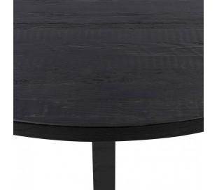 Sherwood rundt spisebord i genanvendt egetræ Ø150 cm - Sort