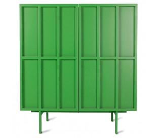 Sideboard i MDF og metal H89 x B80 cm - Grøn