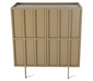 Sideboard i MDF og metal H89 x B80 cm - Olivengrøn