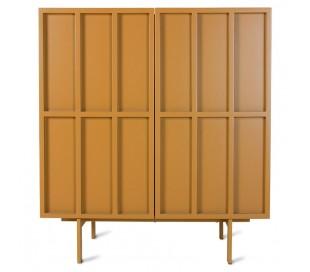 Sideboard i MDF og metal H89 x B80 cm - Orange