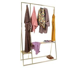 Garderobe stativ i metal H194 x B124 cm - Messing