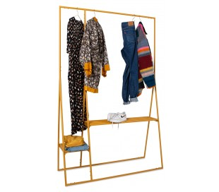 Garderobe stativ i metal H194 x B124 cm - Orange