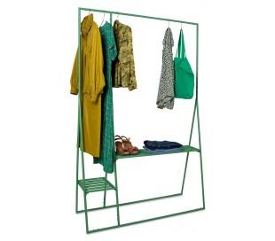 Garderobe stativ i metal H194 x B124 cm - Grøn