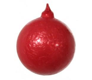 Julekugle Ø6 cm Glas - Frostet rød (1)