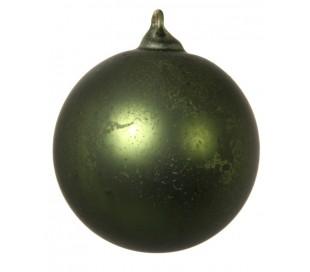 Julekugle Ø6 cm Glas - Frostet grøn (1)