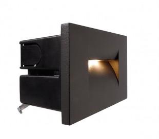 Yvette I A væglampe til indbygning 10,4 x 7,5 cm 3,6W LED - Antracit