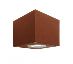 Cubodo B up-down væglampe 6W LED - Brun