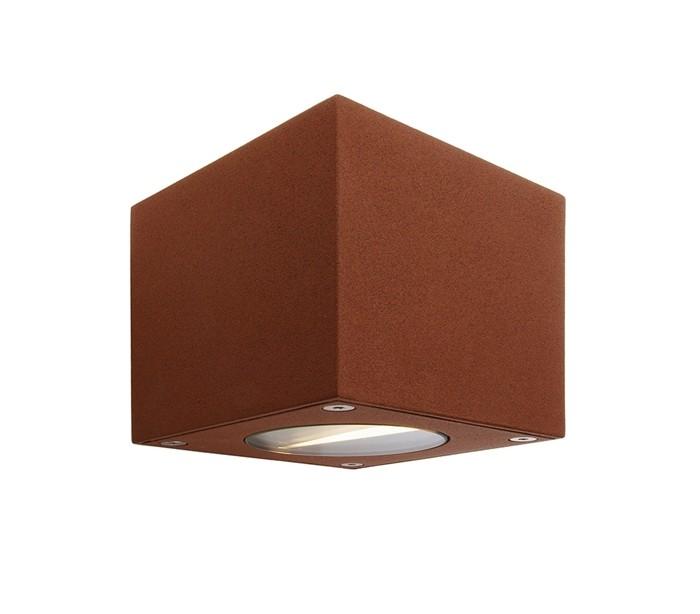 Cubodo b up-down væglampe 6w led - brun fra deko light på lepong.dk