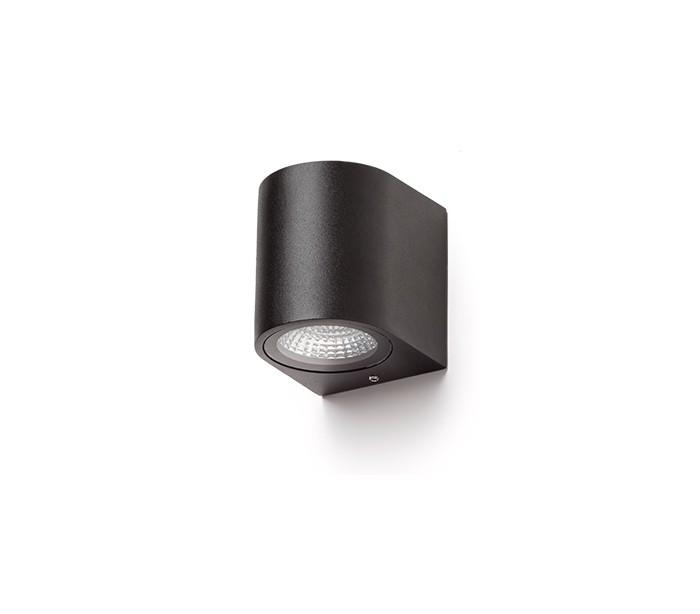 rendl light studio – Zack l væglampe 3w led - antracit på lepong.dk