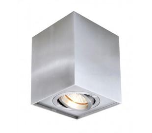 Dato enkelt påbygningsspot GU10 kipbar - Sølv