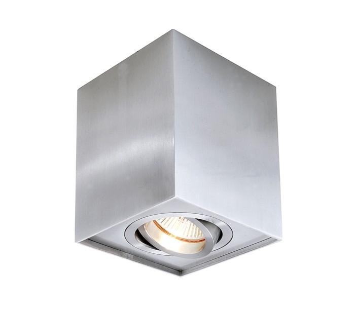 Image of   Dato enkelt påbygningsspot GU10 kipbar - Sølv