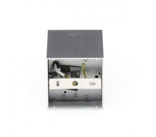 Bengala enkelt påbygningsspot GU10 kipbar - Sølv