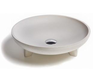 Håndvask til bord 70 x 45 cm - Beton med dekor