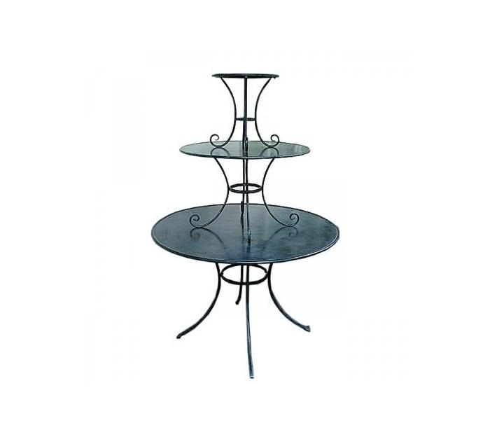 Antikt opsatsbord h171 cm ø118 cm - antik sort fra ideal lux - fumagalli fra lepong.dk