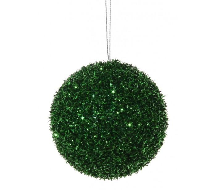 Billede af Julekugle med glimmereffekt Ø8 cm - Grøn