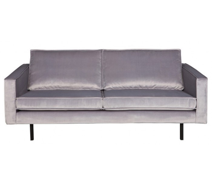 Image of   2,5-personers sofa i velour B190 cm - Lysegrå