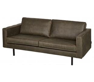 2,5-personers sofa i velour B190 cm - Grå
