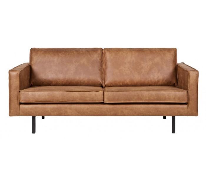 Image of   2,5-personers sofa i ægte læder B190 cm - Vintage cognac