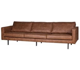 3-personers sofa i ægte læder B277 cm - Vintage cognac