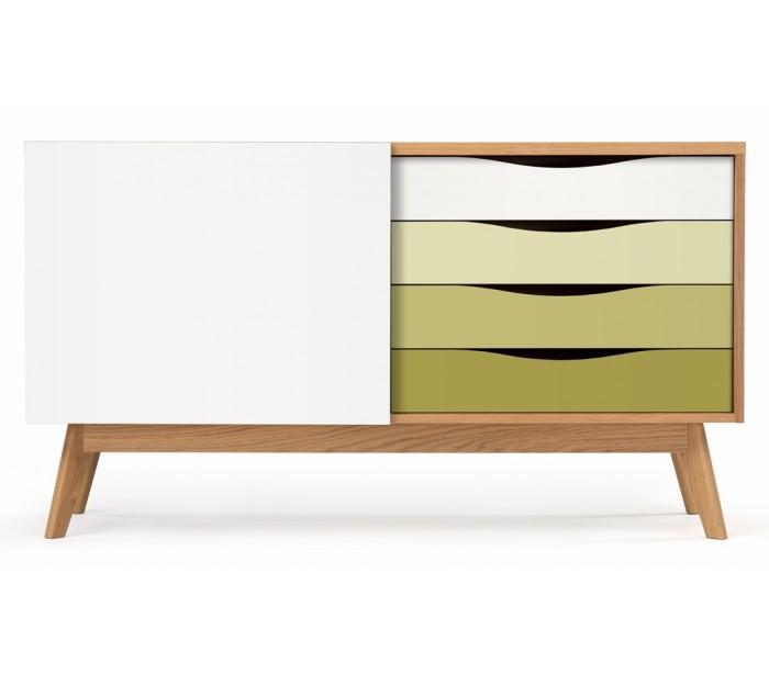 Avon sideboard i retro design – Eg/Oliven