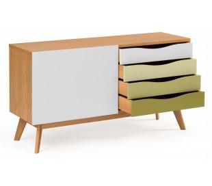 Avon sideboard i retro design - Eg/Oliven