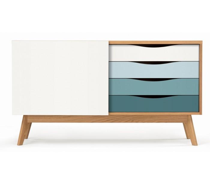 Avon sideboard i retro design – Eg/Blå