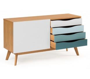 Avon sideboard i retro design - Eg/Blå