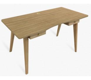 Nice Skrivebord med 2 skuffer - Eg