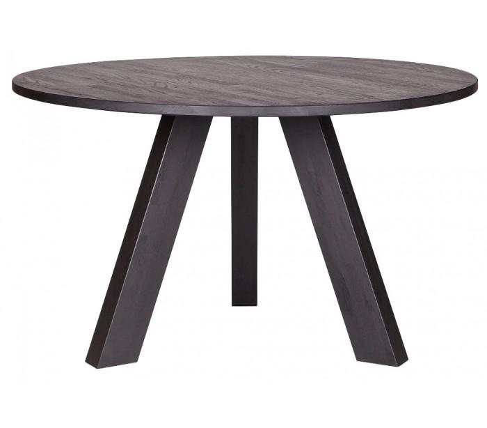 Spisebord i olieret eg H77 x Ø129 cm – Sort