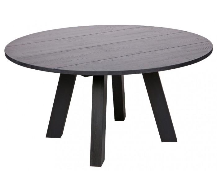 Spisebord i olieret eg H75 x Ø150 cm - Sort