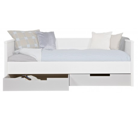 Sengetøjsskuffer H21 x 198 x 70 cm - Hvid