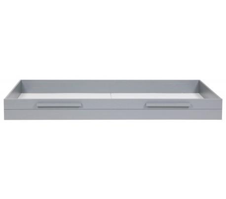 Sengetøjsskuffe H21 x 198 x 91 cm - Børstet grå
