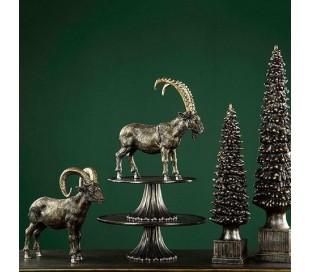 Juletræ i polyresin H50 cm - Antik brun