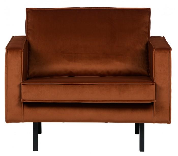 Lænestol i velour B105 cm – Rust fra Selected by Lepong