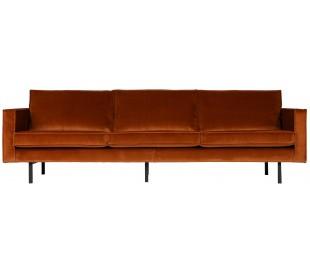 3-personers sofa i velour B277 cm - Grå