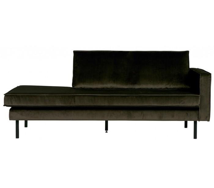 Daybed sofa i velour B206 cm - Mørkegrøn