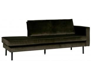 2,5-personers sofa i velour B190 cm - Rust