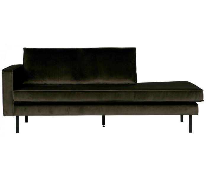 Daybed sofa i velour b206 cm - mørkegrøn fra garageeight på lepong.dk