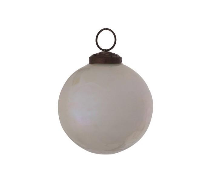 Image of   Julekugle i glas Ø7 cm - Perlemor