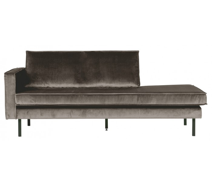 Image of   Daybed sofa i velour B206 cm - Taupe