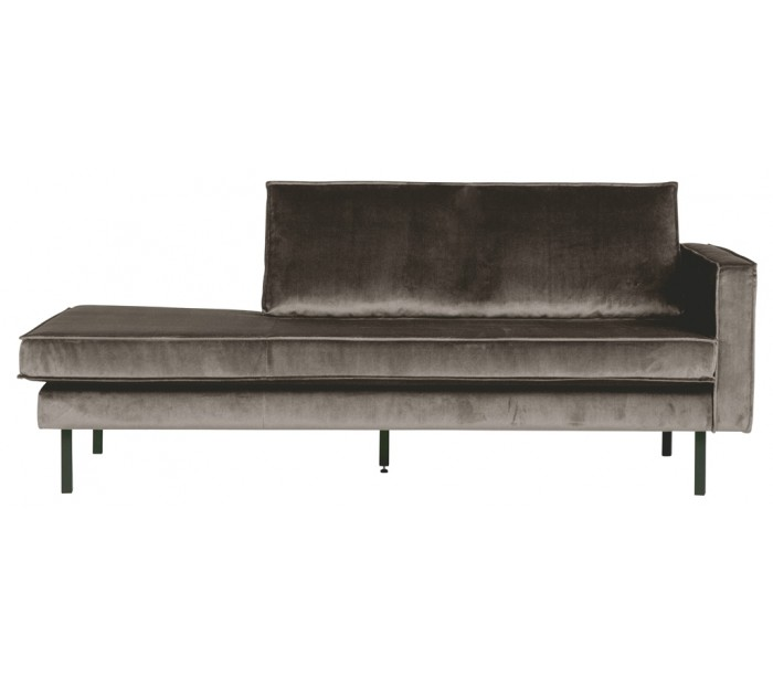 Daybed sofa i velour B206 cm - Taupe