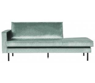 Daybed sofa i velour B206 cm - Mint